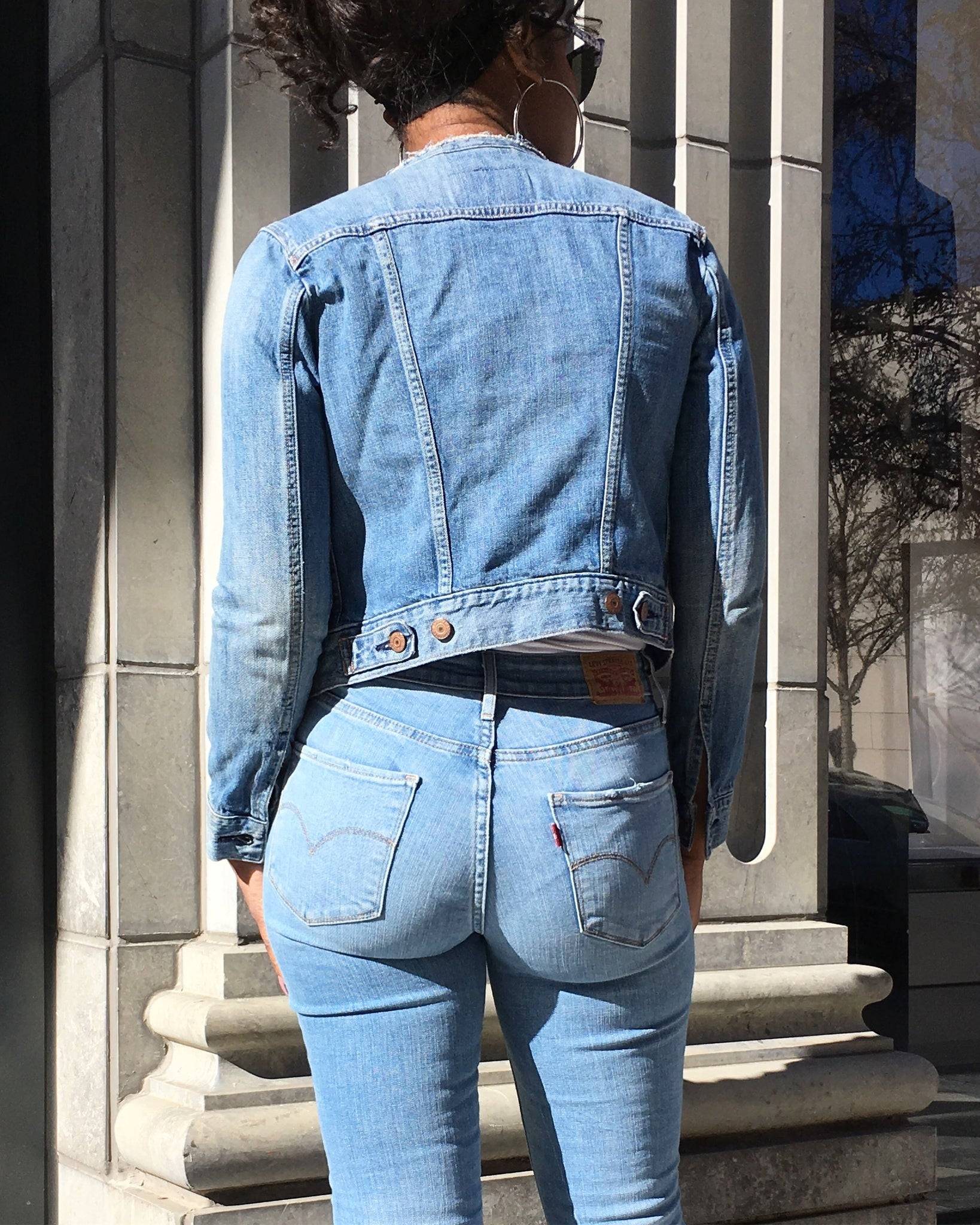 Custom Jeweled Levi's Jean Jacket