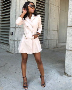 Cream Double Breast Trench