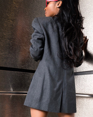 Grey Double-Breasted Blazer/Dress
