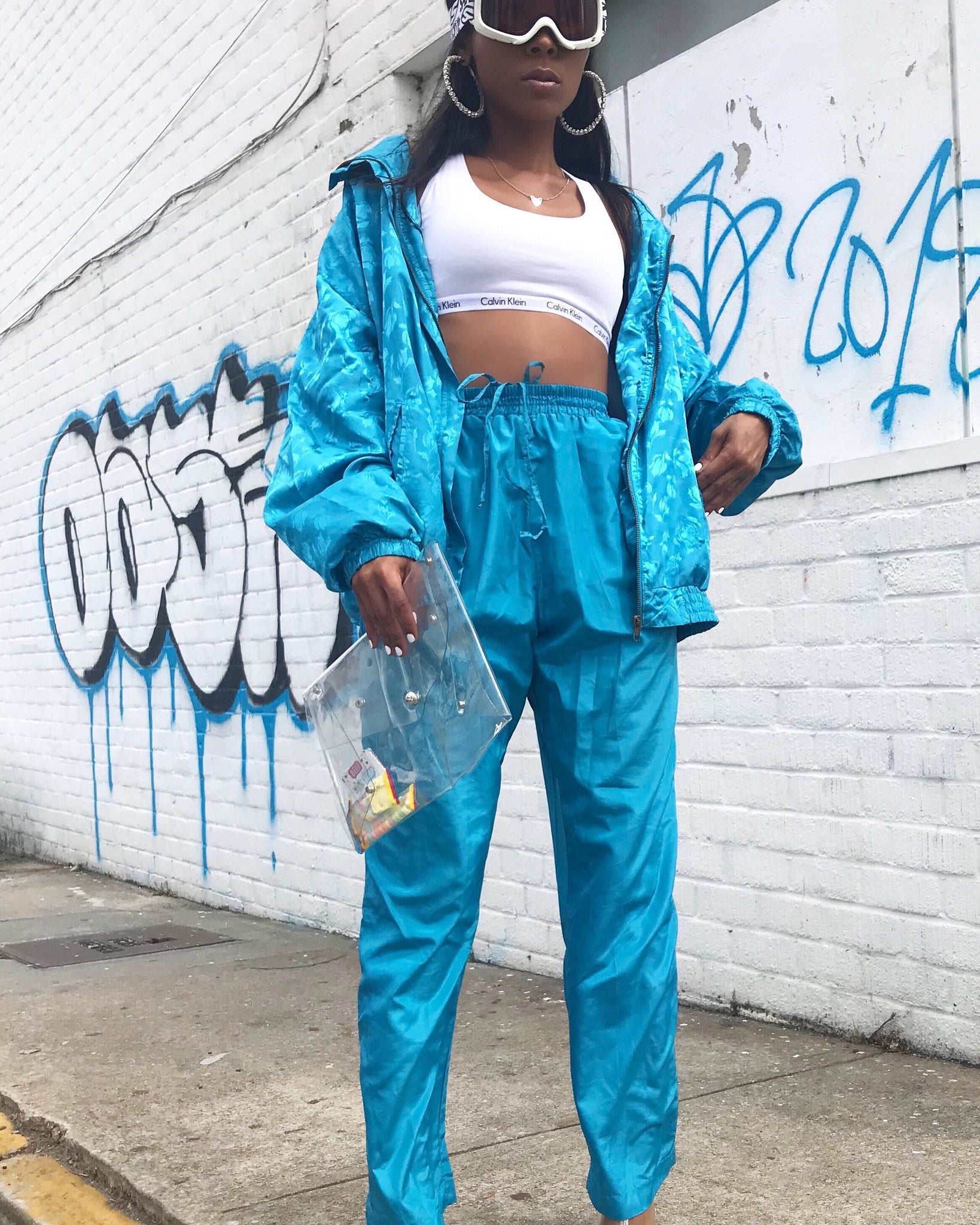 Ive Blue Wind Breaker Set