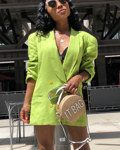 Lime Green Double Breast Blazer
