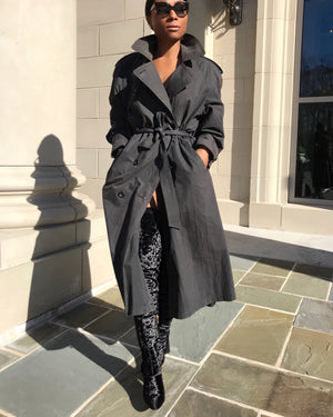 Charcoal Grey Trench Coat