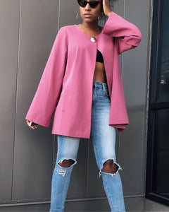 Rouge Pink Cape Style Jacket