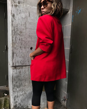 Red Double Breasted Blazer