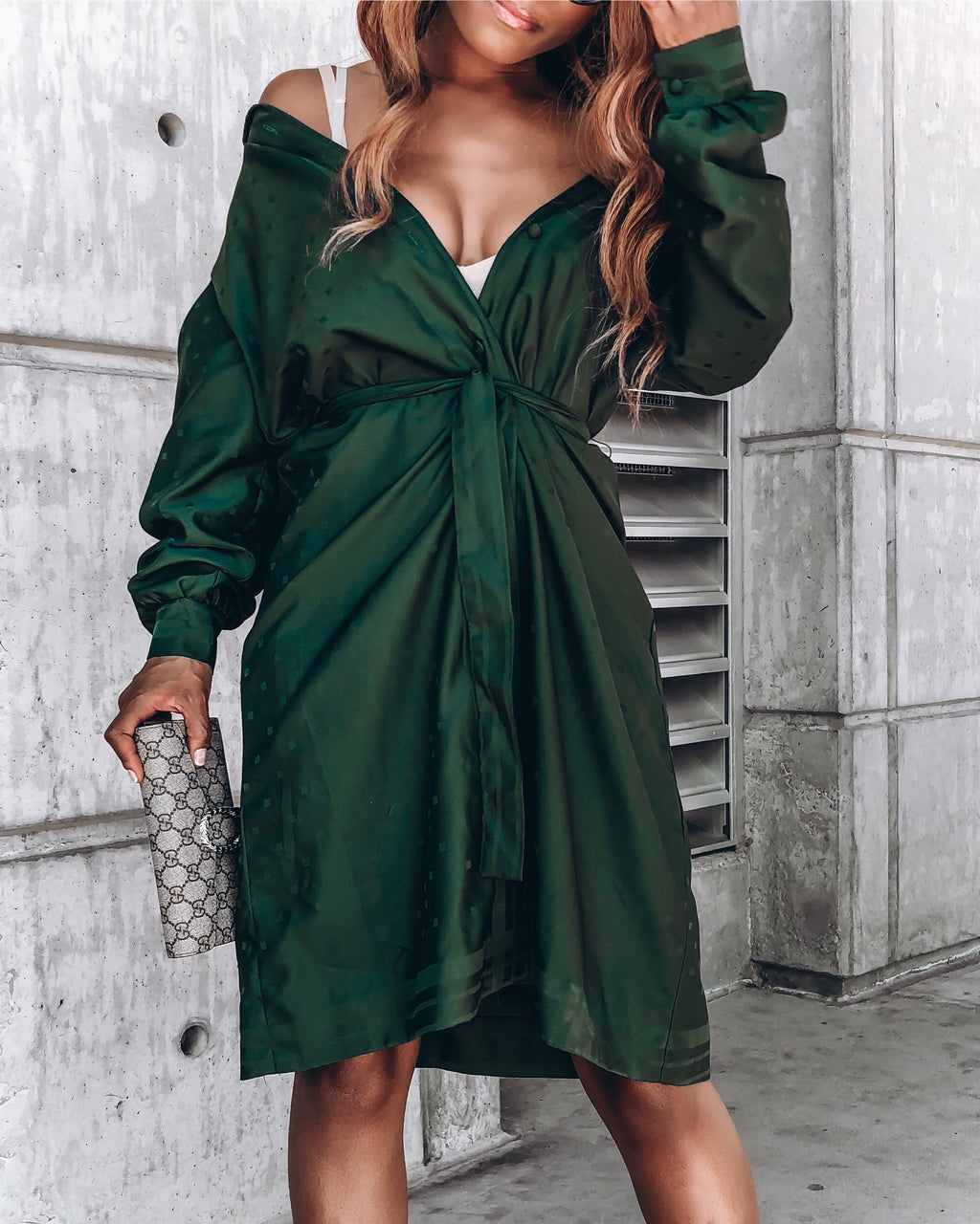 Emerald Green Shirt Dress