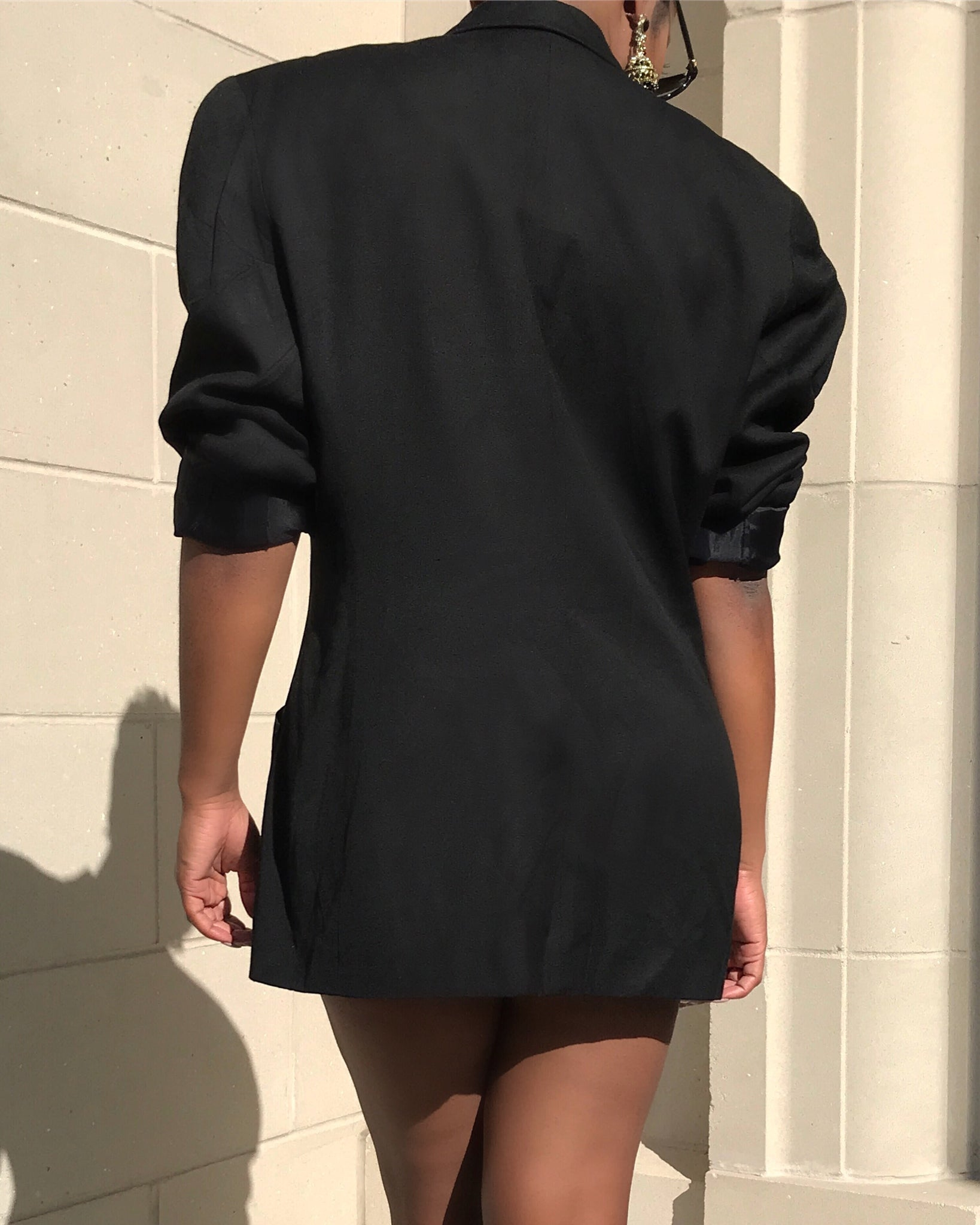 Black Double Breasted Blazer Dress