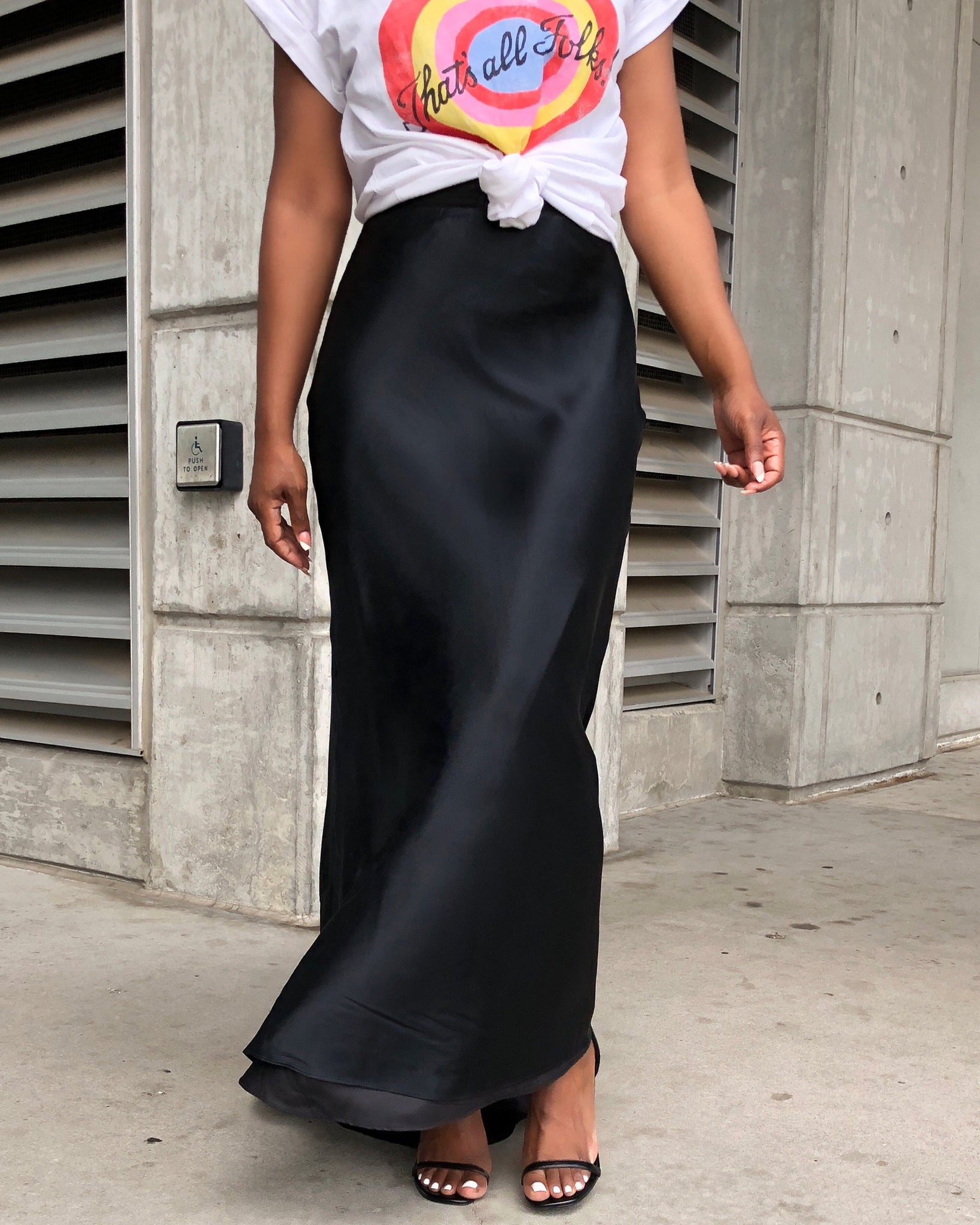 Authentic Ralph Lauren Silk Maxi Skirt