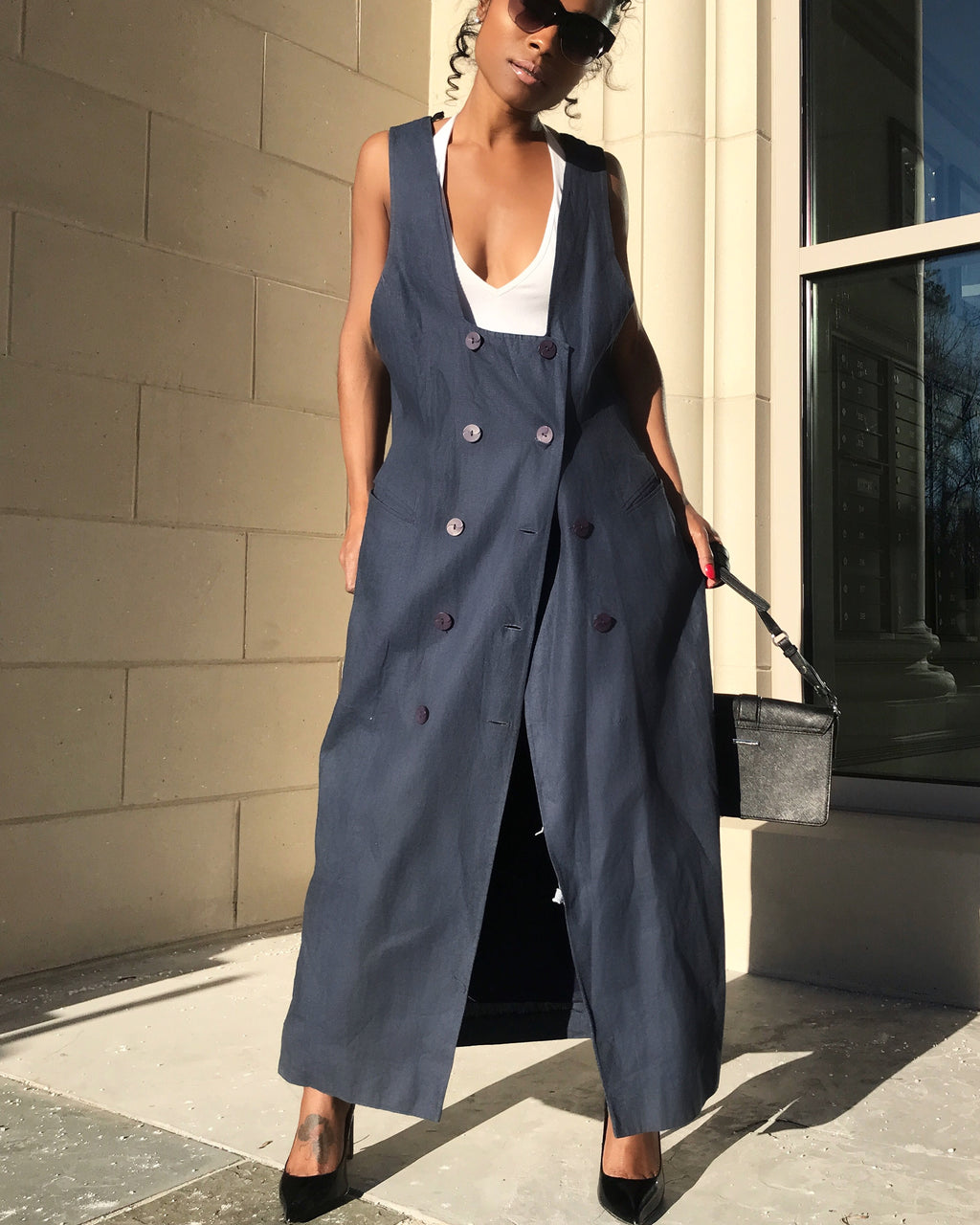 Denim Inspired Maxi Vest