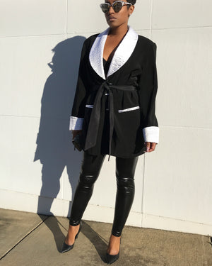 Contrasting Black and White Jacket