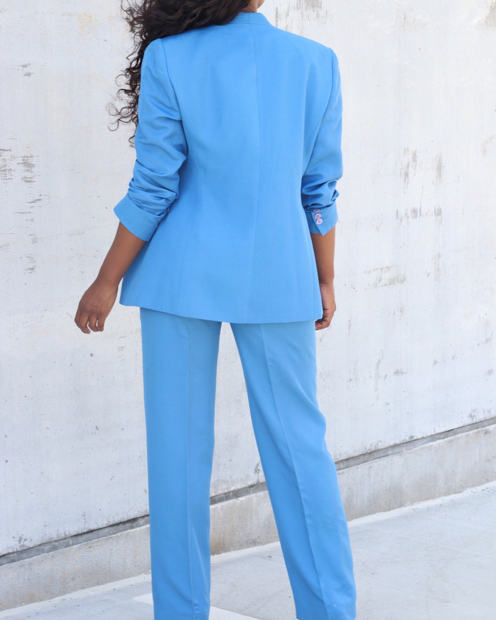 Powder Blue Power Suit