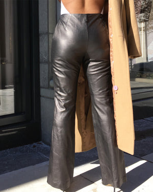 Buttery 100% Genuine Leather Black Pants
