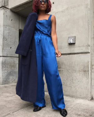 Electric Blue Sateen Set
