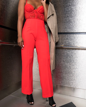 High-Waisted Cajun Red Pant