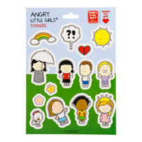 Sticker sheet pack Angry Little Girls