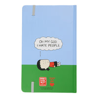"""I hate people"" Lined Blank Journal"