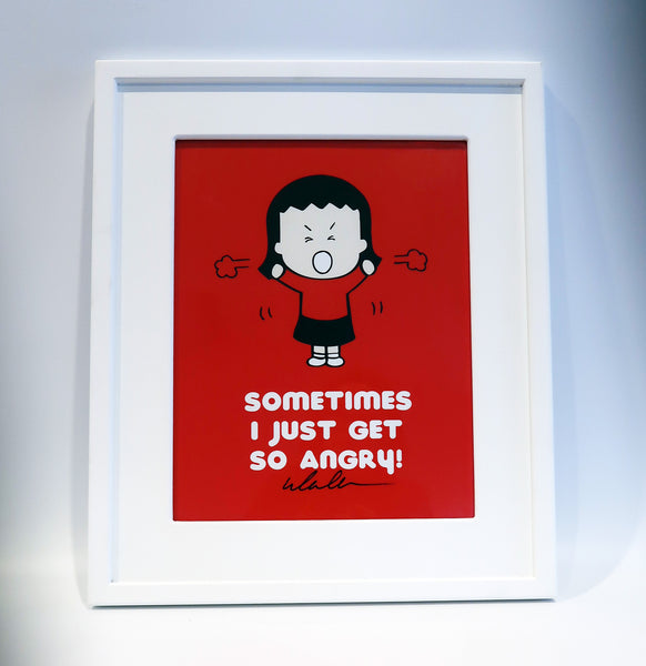 "Color art print ""Sometimes I Just Get So Angry!"""