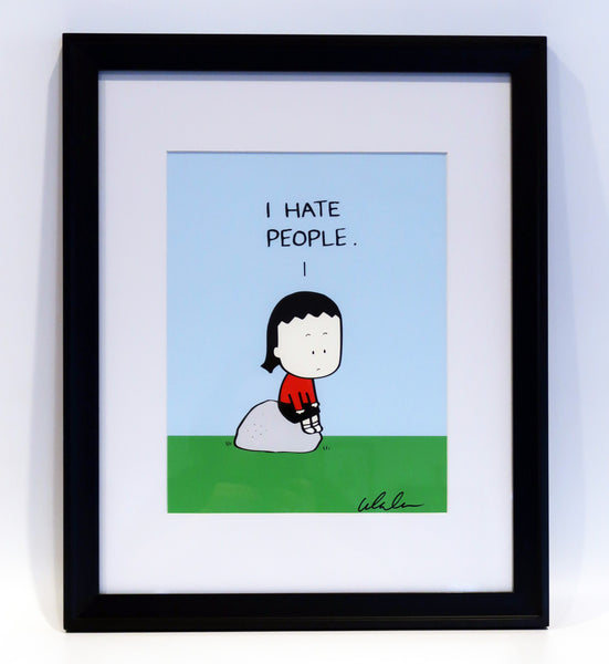 "Color art print ""I hate people"""
