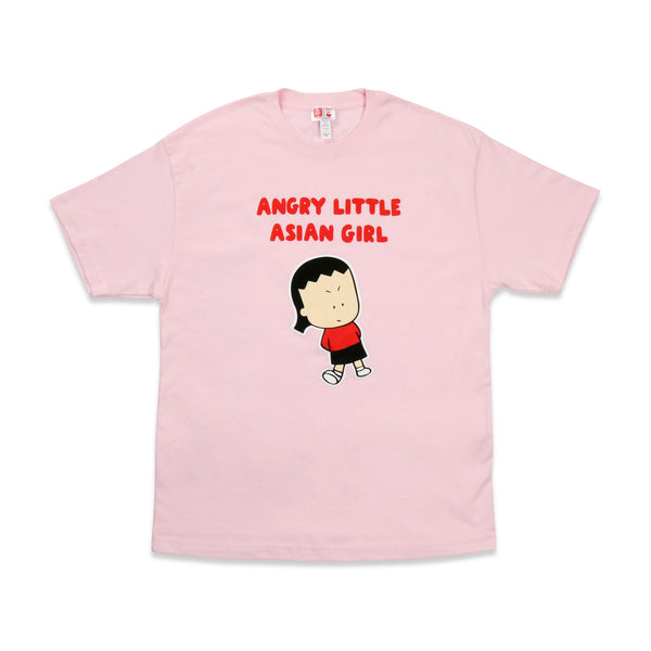 Angry Little Asian Girl heavyweight oversize street tee pink