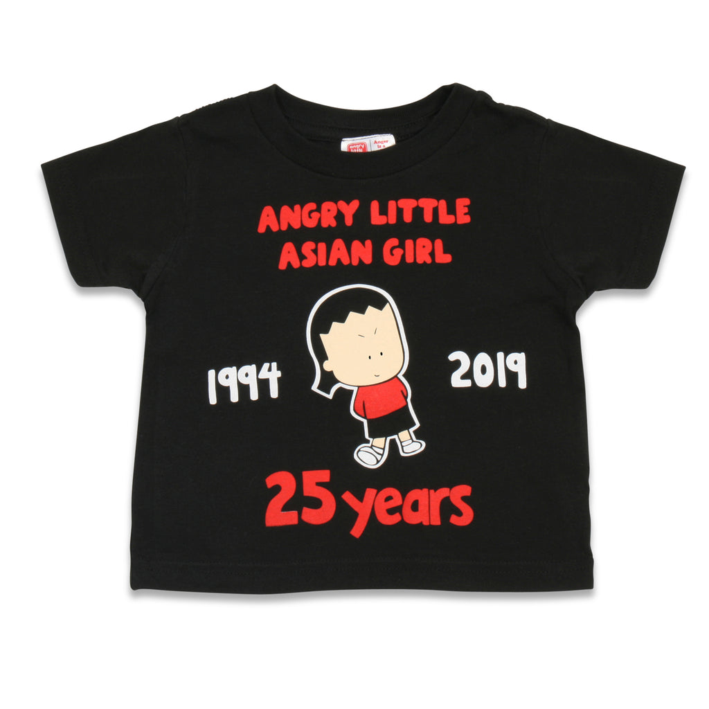 Angry Little Asian Girl 25 years TODDLER tshirt