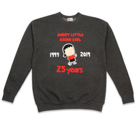 Angry Little Asian Girl middle finger 25 years ADULT sweatshirt