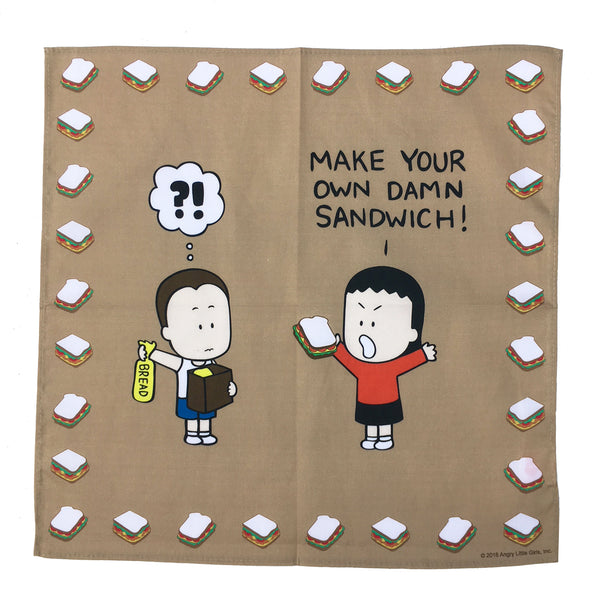 """Make Your Own Damn Sandwich!"" napkin"