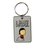 "Keychain ""I hate people"""