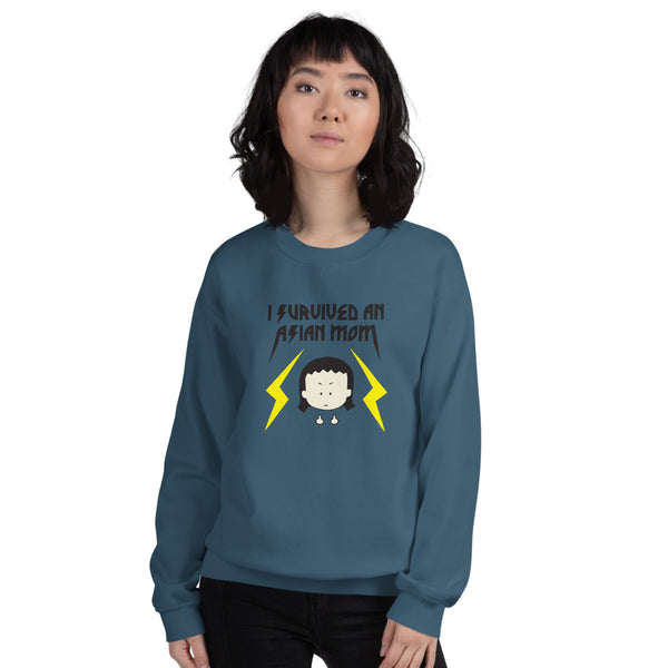 """I Survived An Asian Mom"" Unisex Sweatshirt"