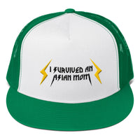 I Survived an Asian Mom Trucker Cap