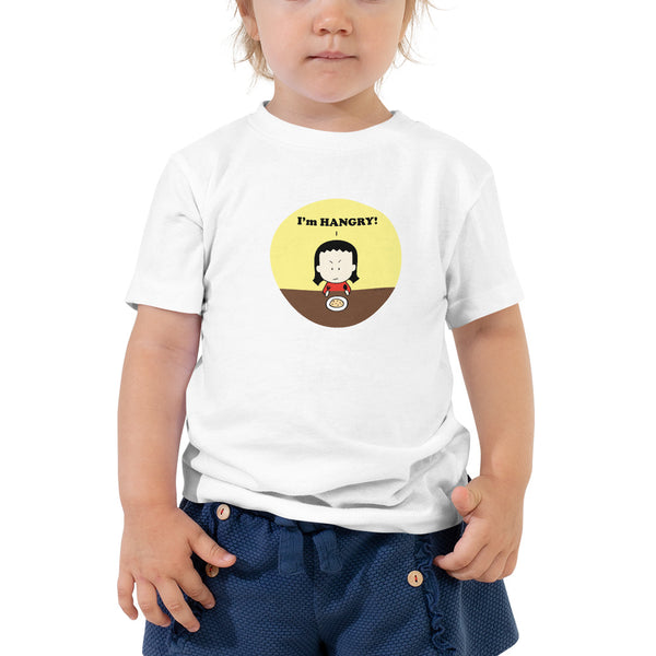 """I'm HANGRY!"" Toddler Short Sleeve Tee"