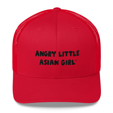 Angry Little Asian Girl Trucker Cap