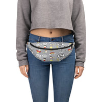 Super Hero Pattern Gray Fanny Pack