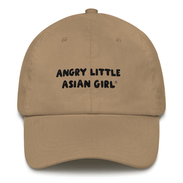 Angry Little Asian Girl cotton twill cap