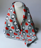 "Large Square Scarf ""ALAG hearts"""