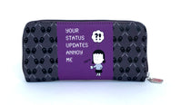 "Wallet ""Your status updates annoy me"""