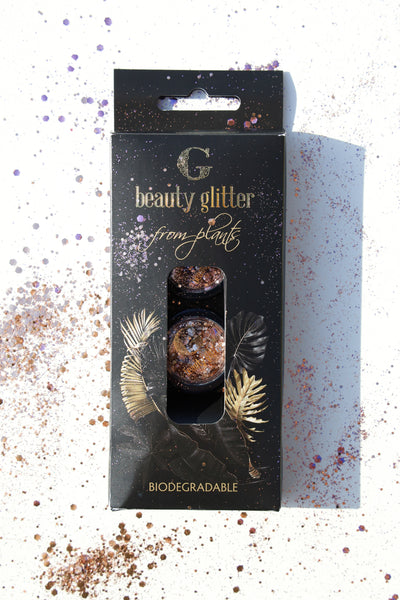 G BEAUTY GLITTER ROSE GOLD & PURPLE DIAMOND