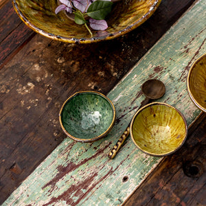 Tamegroute Small Bowls - brass rim