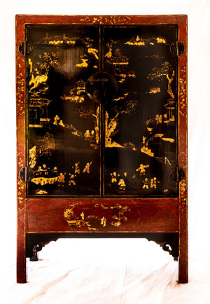 18th century hand-painted wardrobe