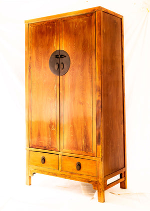 19th century Ju Wood Wedding Cupboard