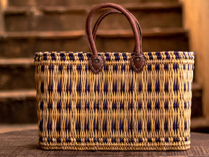 'Zagora' Shopper Basket- With Purple