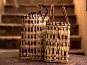 'Zagora' Shopper Basket - With Purple