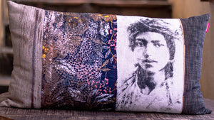 'Visages' - Mixed Media Handmade Cushion