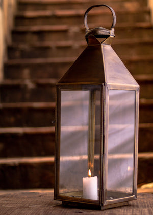 Brushed Brass Lantern - Medium