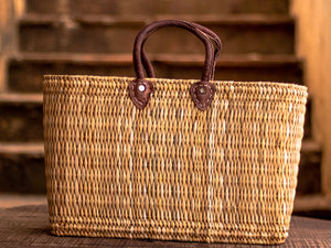 'Zagora' Shopper Basket - Natural