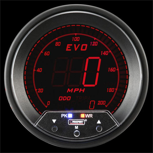 Prosport 85mm EVO Series Speedometer With Peak/Warning