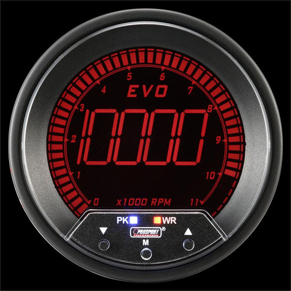 Prosport 85mm EVO Series Tachometer with Peak/Warning