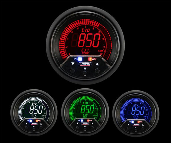 Prosport 60mm Premium Evo Electrical Exhaust Gas Temperature Gauge