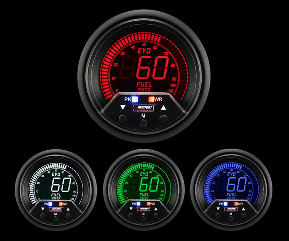 Prosport 60mm Premium Evo Electrical Fuel Pressure Gauge