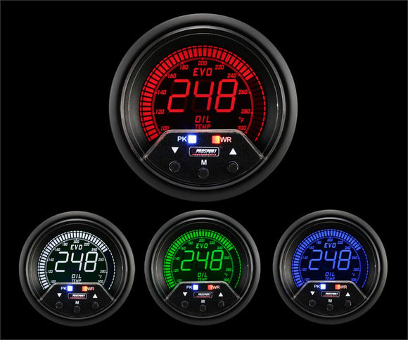 Prosport 60mm Premium Evo Electrical Oil Temperature Gauge