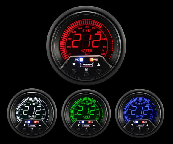 Prosport 60mm Premium Evo Electrical Water Temperature Gauge