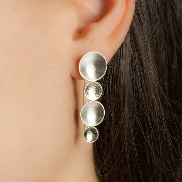 Sterling silver Cascade earrings by Rouaida.